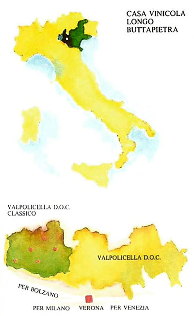 Cartina Valpolicella